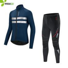 Wosawe зимняя велосипедная одежда с длинным рукавом теплостойкая
