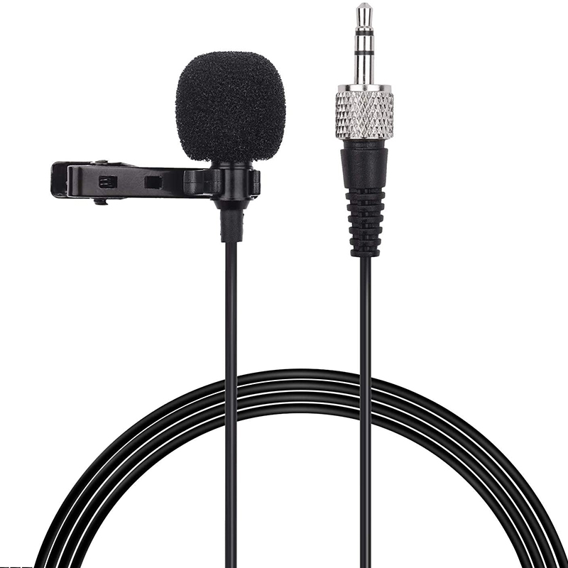 ACEMIC M21 Clip-On Condenser Lavalier Microphone Mic 3.5mm TRS Plug 1M Cable For Sony D11 D12