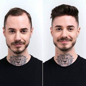 """Men Toupee 8x10"""" 8X6"""" Fine Mono Center With Poly Perimeter Hair PU Men Toupee Repacement Hair Prosthesise Dolago"""