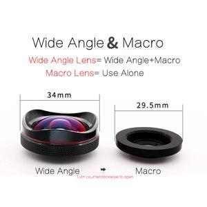 Image 2 - TOKOHANSUN Professional 15x Macro Camera Mobile Photo HD 0.6x Super Wide Angle Phone Lens For Samsung S8 S9 iPhone 6S 7 8 Plus
