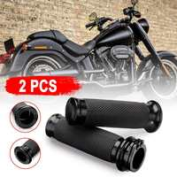 """New Silver/Black 1"""" Handle Bar Hand grips Fit for Harley Davidson For Touring Sportster XL883 Dyna Motorcycle Accessories
