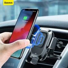 Baseus Giá Đỡ Điện Thoại Ô Tô Cảm Biến Cho iPhone Dành Cho Samsung Tự Động Hút Xe Sạc Không Dây Lỗ Thông Khí Núi Giữ Điện Thoại