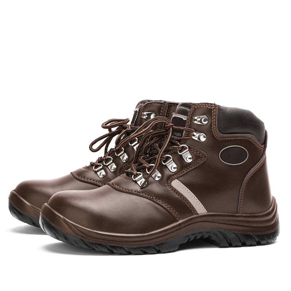 Plus Size Work Safety Boots Leather Outdoor Cap Steel Toe Stab-resistant Indestructible Men Safety Shoes