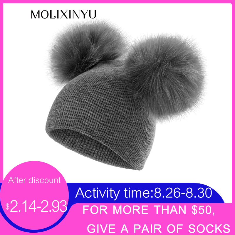 955ab077e earflap cap children's winter infant newborn baby kids faux fur wool ...