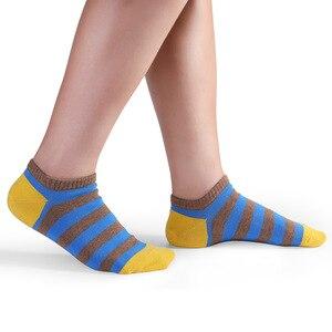 Носки мужские 5 пар/лот, дышащие приталенные полосатые до щиколотки, в стиле пэчворк, для спорта, подарки для мужчин, большие размеры, на весну лето|Мужские носки|   | АлиЭкспресс