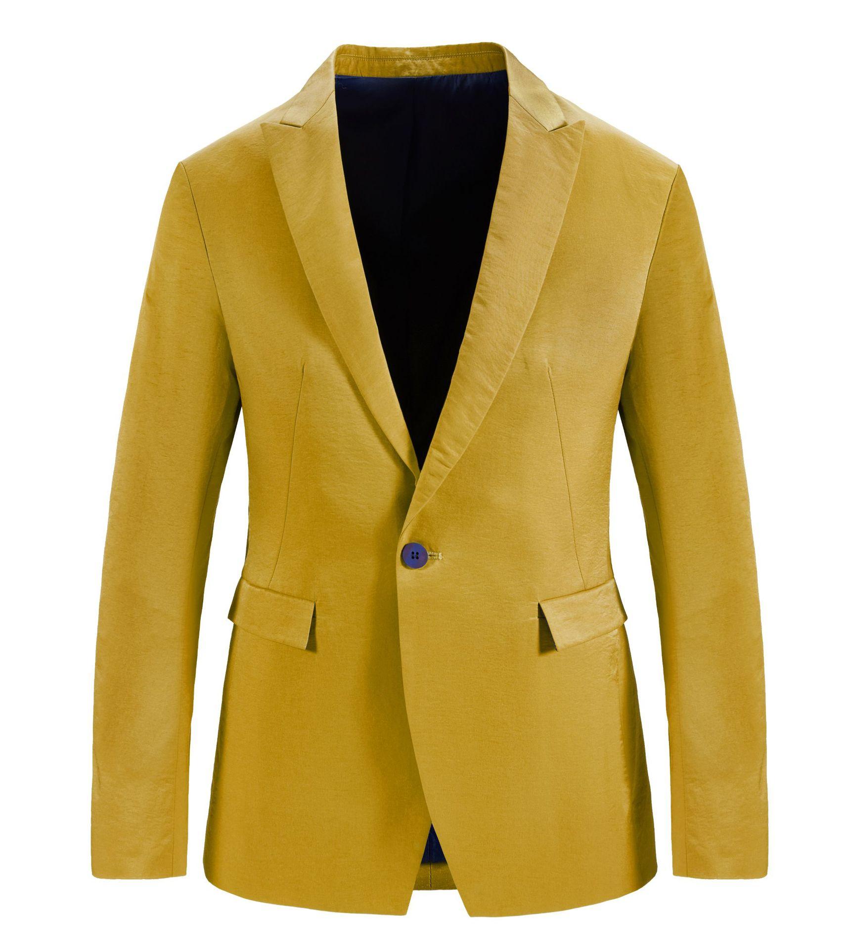 Jaune homme costume décontracté Slim Fit affaires Blazer grande taille 3xl 4xl manches longues costume Blazer Masculino bouton hauts vêtements hommes