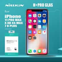 Nillkin para iPhone 11 Pro Max XS Max XR X vidrio H + Pro de vidrio templado Protector de pantalla para iPhone 11 Pro X XS X Max 7 8 Plus de vidrio