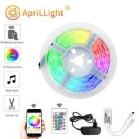 Lámpara de luz de fondo con controlador WIFI para decoración del hogar, cadena luminosa para dormitorio, tiras de luz LED, DC24V, Flexible, RGB 5050, 5M10M