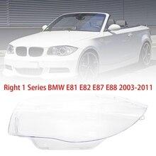 DHBH-Headlight Shell Car Headlight Head Light Lamp Lens Shell Cover For-BMW 1 Series E81 E82 E87 E88 2003-2011