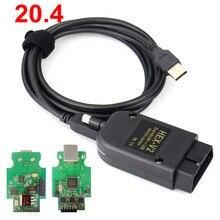 Interfaz USB hexagonal VAGCOM 20.4.2 VAG COM 20.4.1 V2, CAN, para VAG 19,6, Multi idioma, ATMEGA162 + 16V8 + FT232RQ