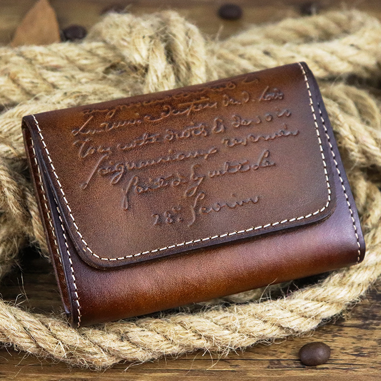 Hot Retro Mini Leather Credit Card Wallet For Credit Cards Genuine Leather Bifold Minimalist Wallet For Cards Women Cow Leather
