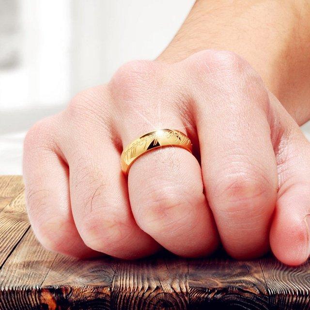 Bagues le seigneur des anneaux en titane 3