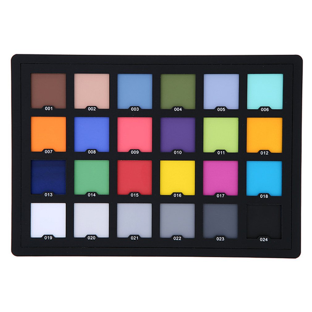 Professional 24 Color Card Test Balancing Palette Board for Superior Digital Correction Photography Accessories