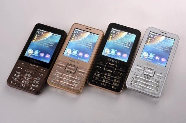 Original SERVO V8100 Phone With Quad SIM 4 SIM card 4 standby Bluetooth Flashlight 2.8 inch Cheap Cell Phone