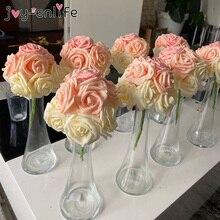 25pcs/lot Artificial Rose Bouquet Decorative Foam Rose Flowers Bride Bouquets for Wedding Home Party Decoration Wedding Supplies
