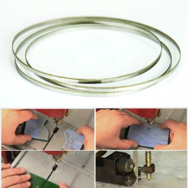 37 59*1/8 inç paslanmaz çelik Bimetal testere bıçağı dikişsiz dairesel elmas şerit testere kesme bıçağı grafit cam taş