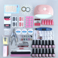 LUYIXIN Manicure Sets 3D Cateye 6/12pcs Gel Polish Set UV LED Lamp Electric Nail Drill Machine Nails Art Decorations