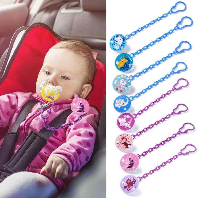 Chupeta infantil com clipe, chupeta de bebê para alimentação, corrente fofa com clipe antiperda