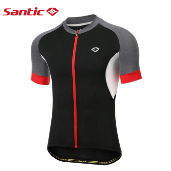 Santic Men's Cycling Jersey Short Sleeve Bike Shirts Quick-Dry Breathable Bicycle Tops Pro Fit Road Bike MTB Sports Clothing недорого
