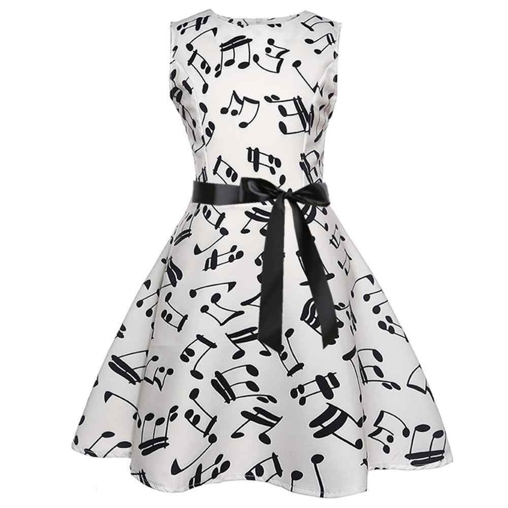 Baby Girl Polka print music Dress For Girls Flower Wedding Party Dresses Kids Princess Christmas Dress Casual Wear Clothing 20H