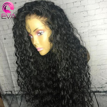 Eva bouclés perruques de cheveux humains pour les femmes 13x6 dentelle avant perruques de cheveux humains pré plumé 370 dentelle frontale perruque brésilienne faux cuir chevelu perruque