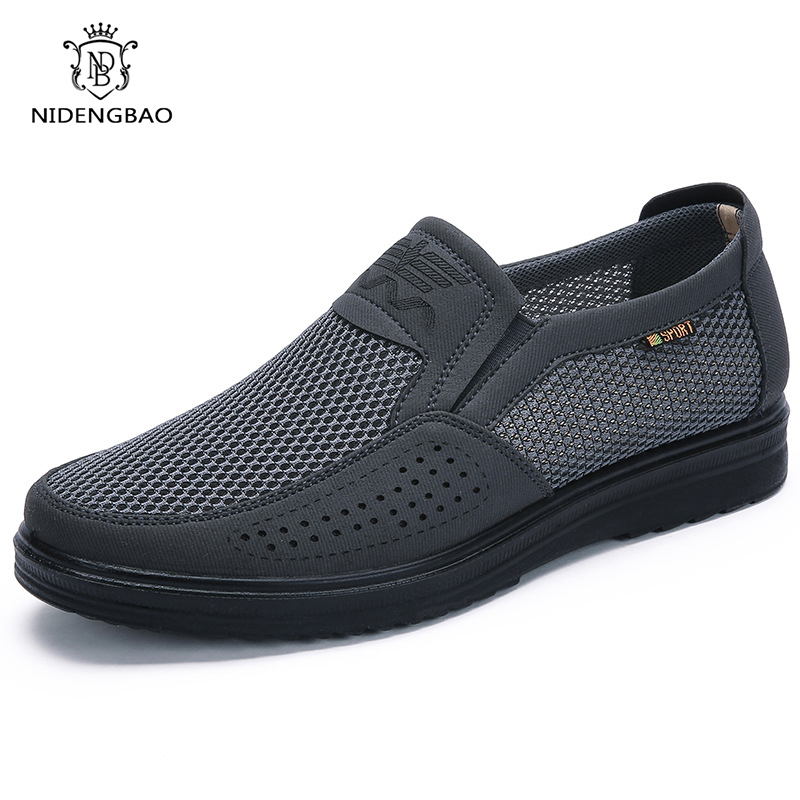 38-48 Men's Casual Shoes Men Brand Summer Style Mesh Flats Shoes For Men Loafers Leisure Shoes Breathable Comfortable Footwear