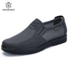 Sapatos casuais masculinos de malha, 38-48 de marca, estilo verão, sapatos baixos para homens, mocassins, lazer, respirável calçados confortáveis
