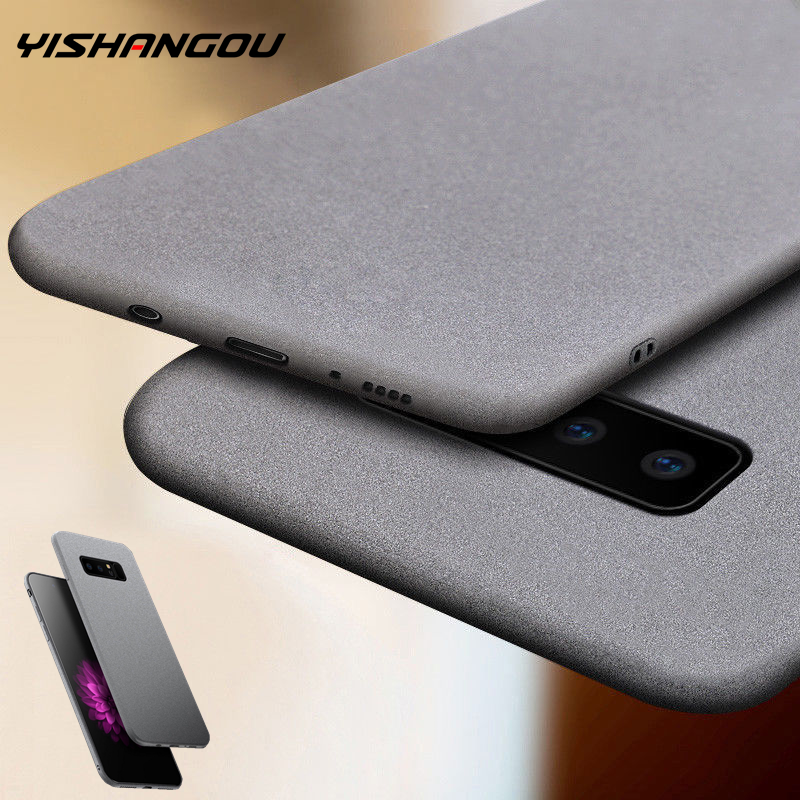 YISHANGOU Luxury Sandstone Matte Soft Phone Case For Samsung Note 10 9 <font><b>8</b></font> S20 S10e S9 Plus S8 A50 A70 A40 A10 A20E A750 A51 A71 image