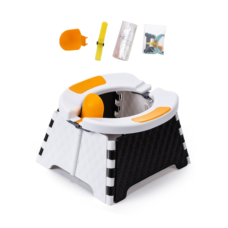 Baby Potty Training Seat Kids Toddler Outdoor Portable Folding Toilet Urinal Chamber Pot for Hiking Travel Camping D0AF