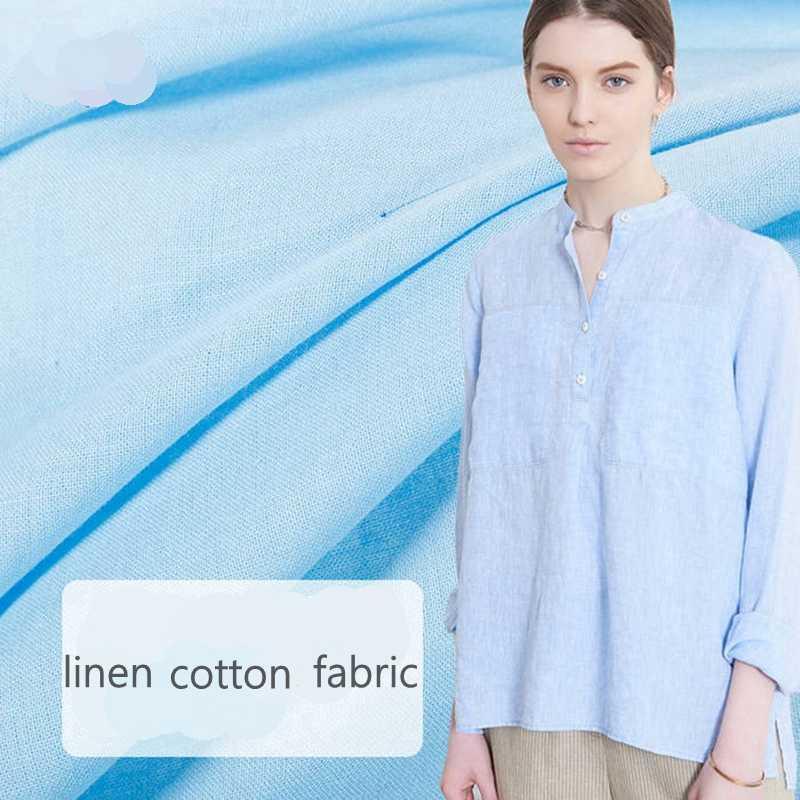 Eco tecido de linho de algodão para costura blusa de Verão e vestido 50*140 cm/piece W300216 L07