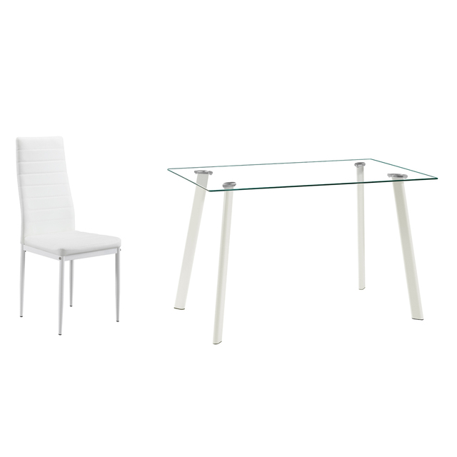 5 Piece White Dining Table Set  3