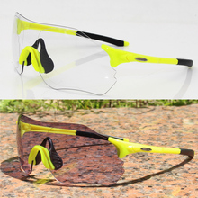 Photochromic Cycling Sunglasses Mountain Bike Goggles Eyewear Bicycle Glasses