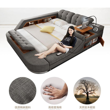 Notepad-Board Bed-Frame Massage Bluetooth-Speaker Ultimate Bed Safe-Radio Nordic-Camas