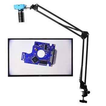 HD 2K 30MP 1080P HDMI cyfrowa przemysłowa kamera z mikroskopem wideo + duże pole widzenia wysoka odległość robocza F1 6 6-60mm soczewka powiększająca tanie i dobre opinie Eakins 500X i Pod 30MP Full HD 1080P USB HDMI Microscope Video Camera Metal Wysokiej Rozdzielczości Cyfrowy Mikroskop wideo