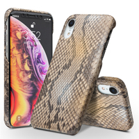 Customized product! Nature Genuine Leather Python Skin Back Cover for iPhone X XS XR Max Luxury Ultra Thin Back Cover Cases