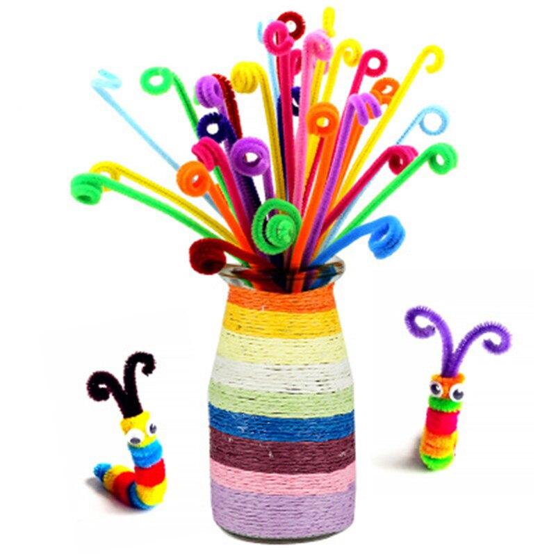 20/40/100pcs Multicolour Chenille Stems Pipe Cleaners Handmade Diy Art Crafts Material Kids Creativity Handicraft Children Toys