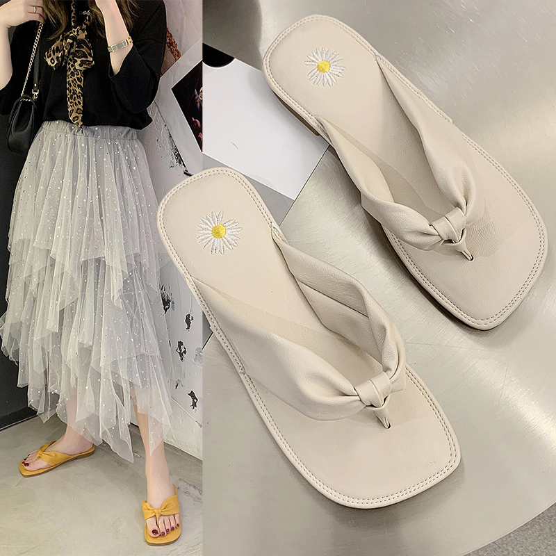 JINJIN-000-New summer sandals slippers indoor outdoor flip-flops beach shoes sexy fashion casual leather slippers chanclas mujer