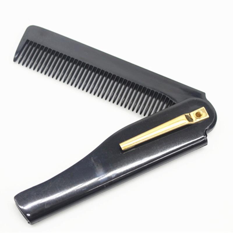 Men Hair Comb Brush Handmade Folding Clip Travel Hair Moustache Beard Comb