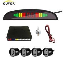 Smart Parktronic dla samochodów wyświetlacz LED System detektorów podświetlenie rewers Auto czujnik parkowania Monitor czujnik parkowania z 4 czujnikami