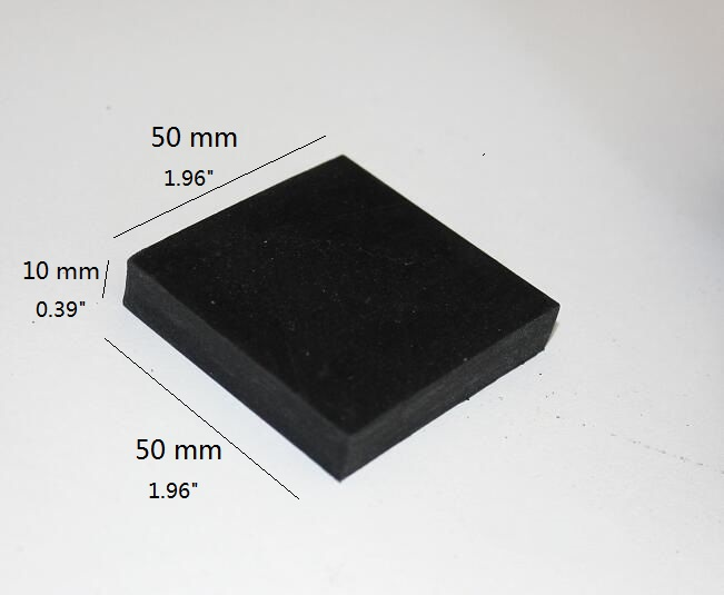 50*50*10mm Solid Black Rubber Block Bench Stamping Forming Base For Steel Block Dapping 2/5/10pcs You Choose Quantity