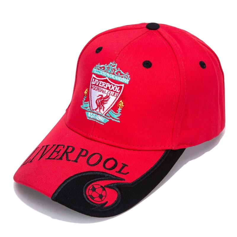 Liverpool Black/Red F.C Embroidered Outdooors Adjustable Men's   Baseball     Cap   For Soccer Fans