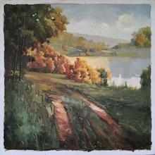 Impression landscape decorative painting Art Oil Painting on Canvas Handpaint