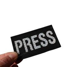 Imprensa de gravação a laser ir remendo infravermelho reflexivo tático militar do exército mídia jornalista correspondente imprensa repórter aplique