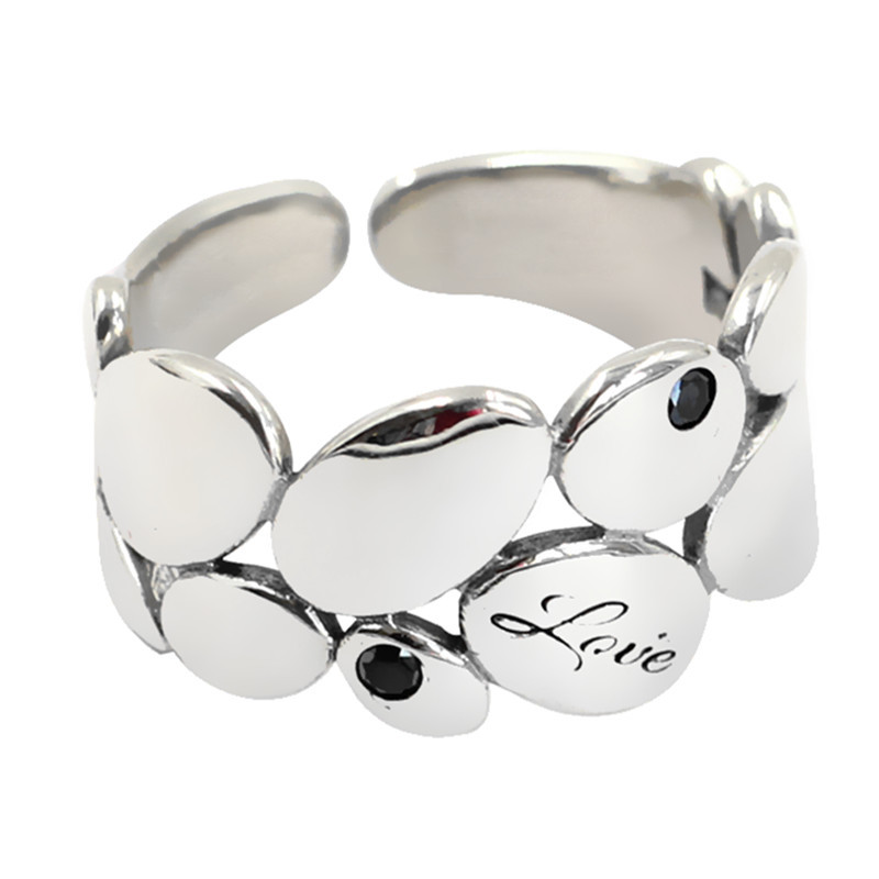 Luxury Brand Silver Color  Leaf Rings for Women Antique Rings Wedding Jewelry Valentines Gifts 4