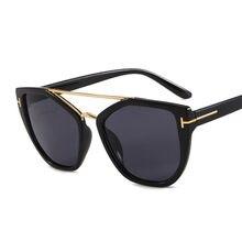 Óculos de sol de metal tipo punk, óculos de sol para mulheres, vintage, moderno, popular, tendência, uv400
