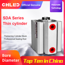 Chled Pneumatic Cylinder SDA Type 12/16/20/25/32/40/50/63mm Bore 5/10/15/20/25/30/35/40/45/50mm Stroke  Pneumatic Air Cylinder cdqmb50 5 cdqmb50 10 cdqmb50 15 cdqmb50 20 cdqmb50 25 cdqmb50 30 cdqmb50 35smc pneumatics pneumatic cylinder pneumatic tools