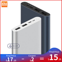 Xiaomi Mi Power Bank 3 10000mAh Portable Quick Charge 18W Max Dual USB Output Powerbank for Phone External Battery Fast Charge