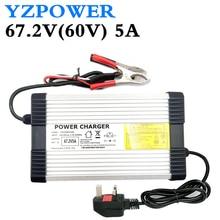 YZPOWER 67,2 V 5A Lithium Batterie Ladegerät für 60V Li Ion Polymer Roller Mit CE ROHS 100 V 240 V AC