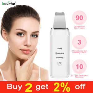 Image 1 - Ultrasonic Cleaning Machine Skin Scrubber Remove Dirt Blackhead Reduce Wrinkles spots Whitening Lifting Face Skin Care tools