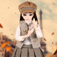 BJD Doll 1/3 60CM Large SD Dolls Fashion Girl Handmade Toys With Full Outfits Wig Clothes Set Shoes Makeup Best Gifts For Girls